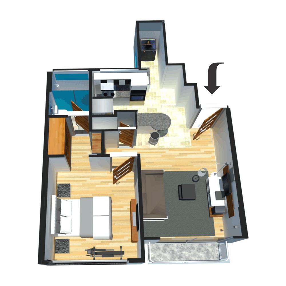 Vallery Apartamento tipo 1