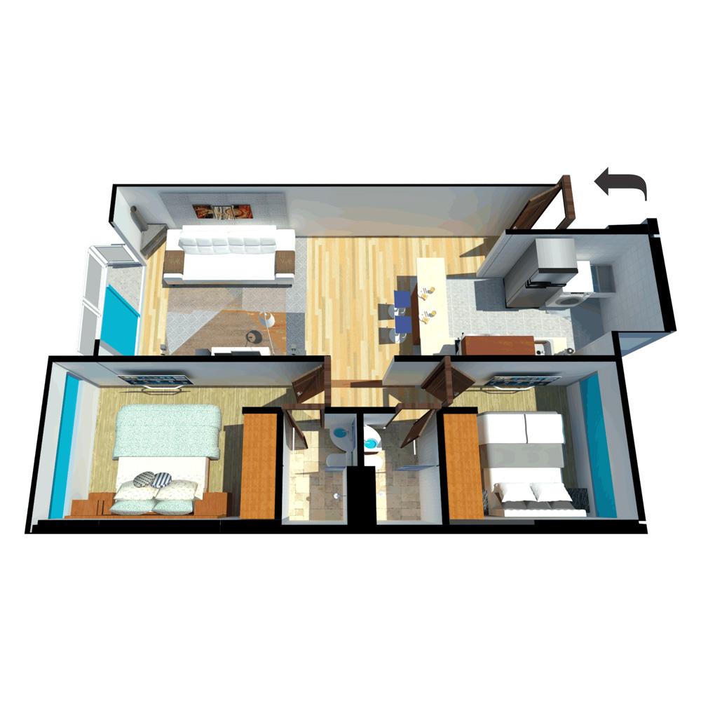 Vallery Apartamento tipo 2