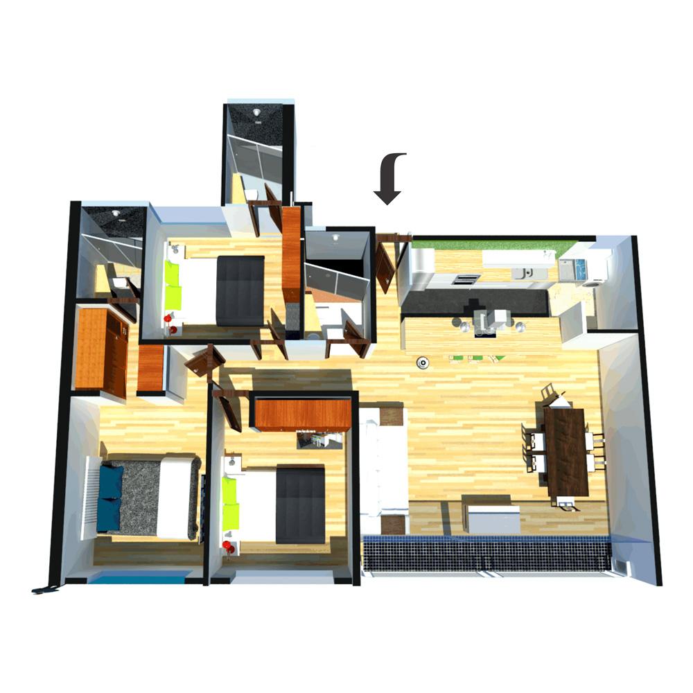 Vallery Apartamento tipo 3